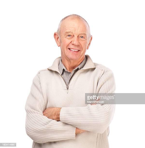 smiling senior male