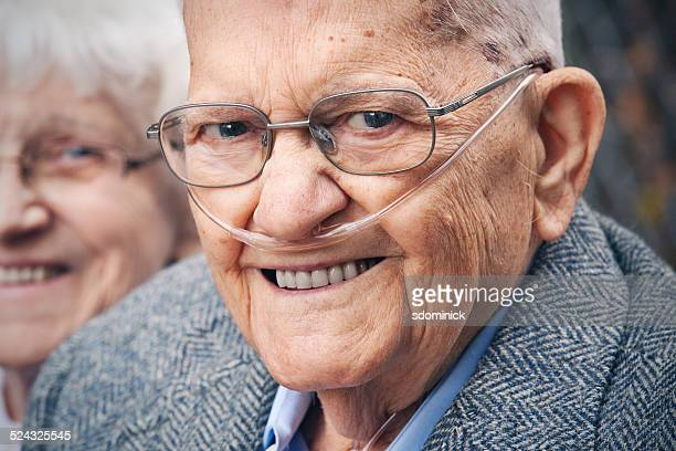 smiling senior man - copd stock photos and pictures