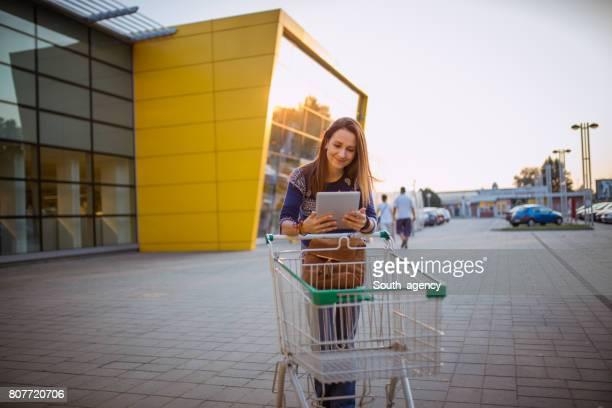 Smiling shopper