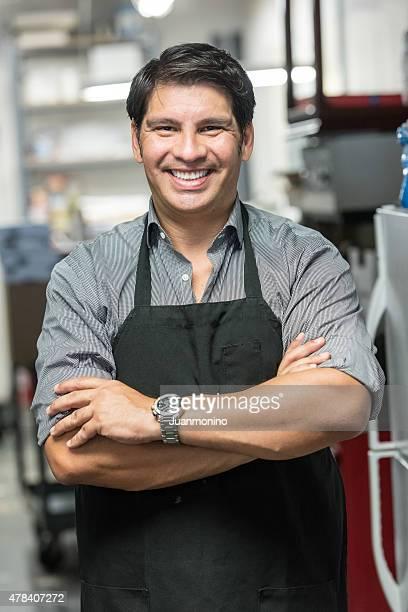 Lächeln kleine Unternehmen Eigentümer