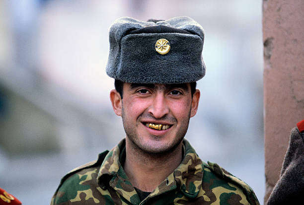 Smiling Soldier with Gold Teeth