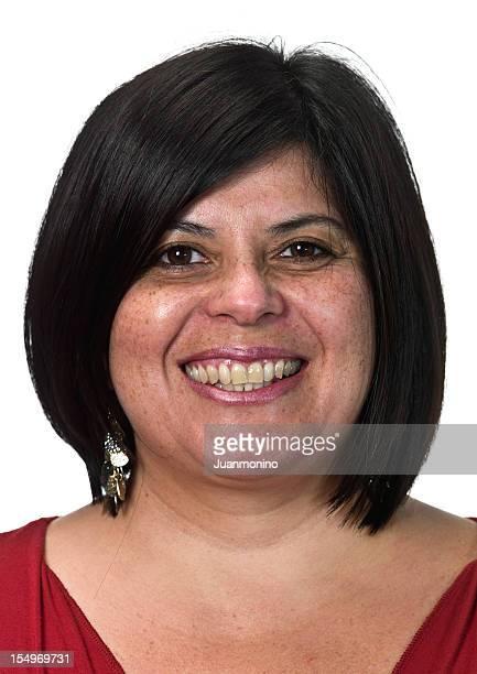 smiling southern european woman