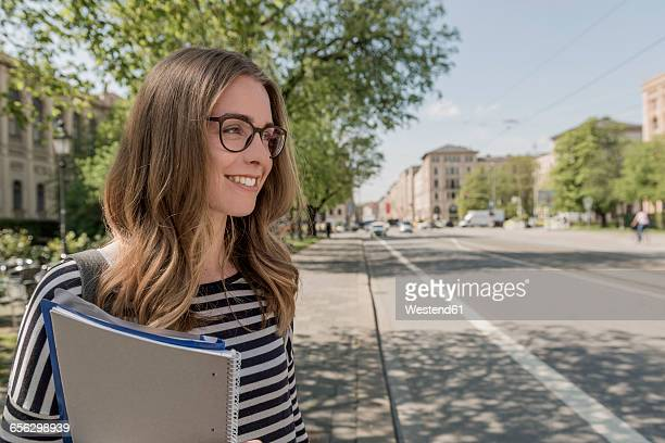 Smiling student outdoors