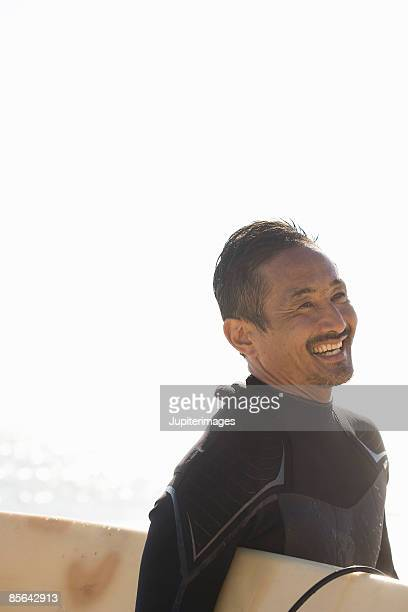 Smiling surfer