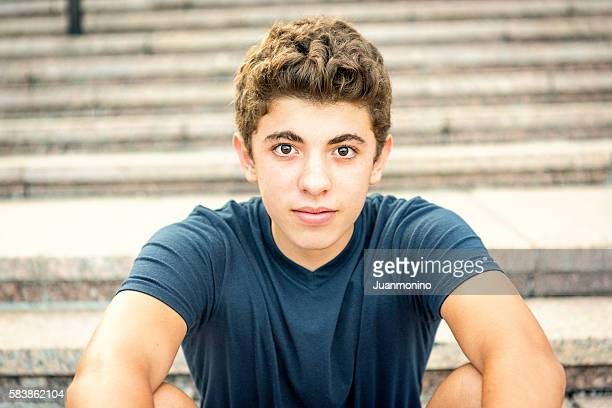 smiling teenager - brown hair stock pictures, royalty-free photos & images