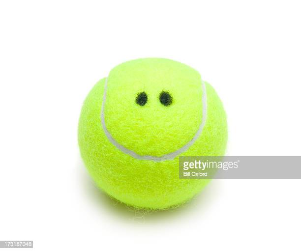 smiling tennis ball - smiley face stock pictures, royalty-free photos & images