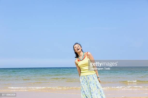 Smiling Woman At Beach