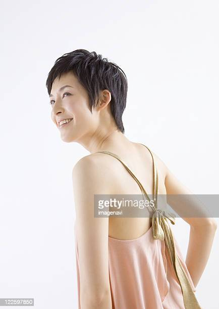 A smiling woman