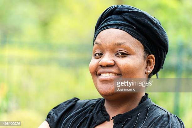 smiling woman - images of fat black women stock photos and pictures