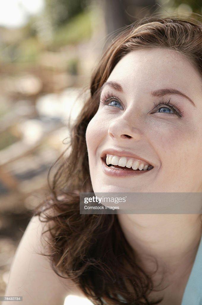 Smiling woman : Stockfoto