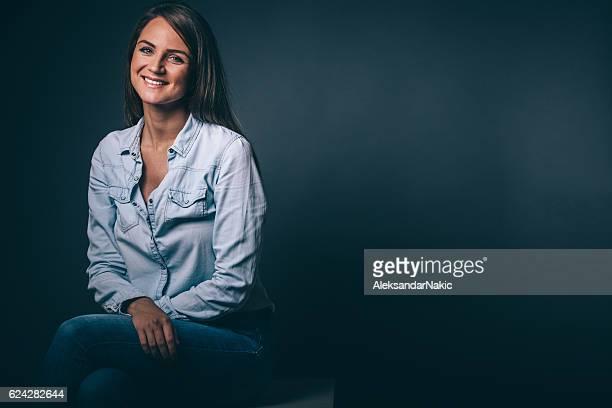 Mulher sorridente Retrato