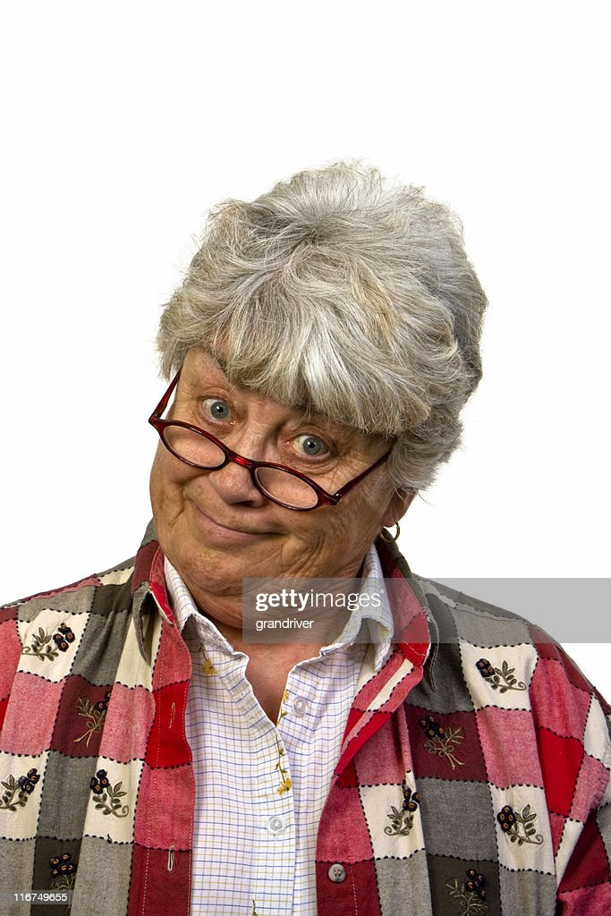 Smiling Woman with Head Cocked : Stock Photo