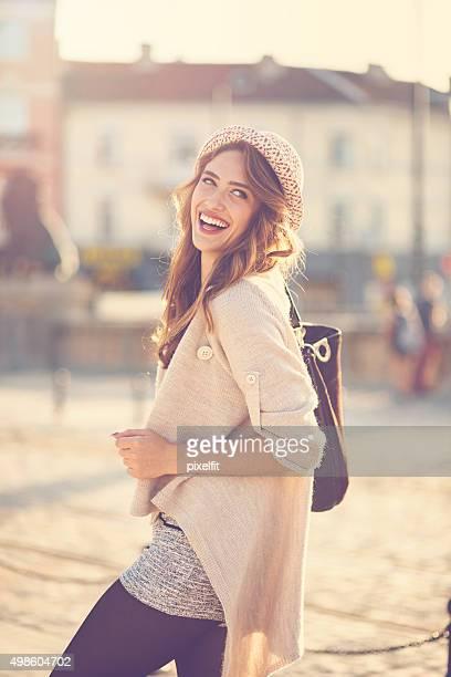 Lächelnde Frau portrairt