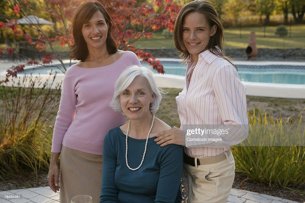 Smiling women : Stock Photo
