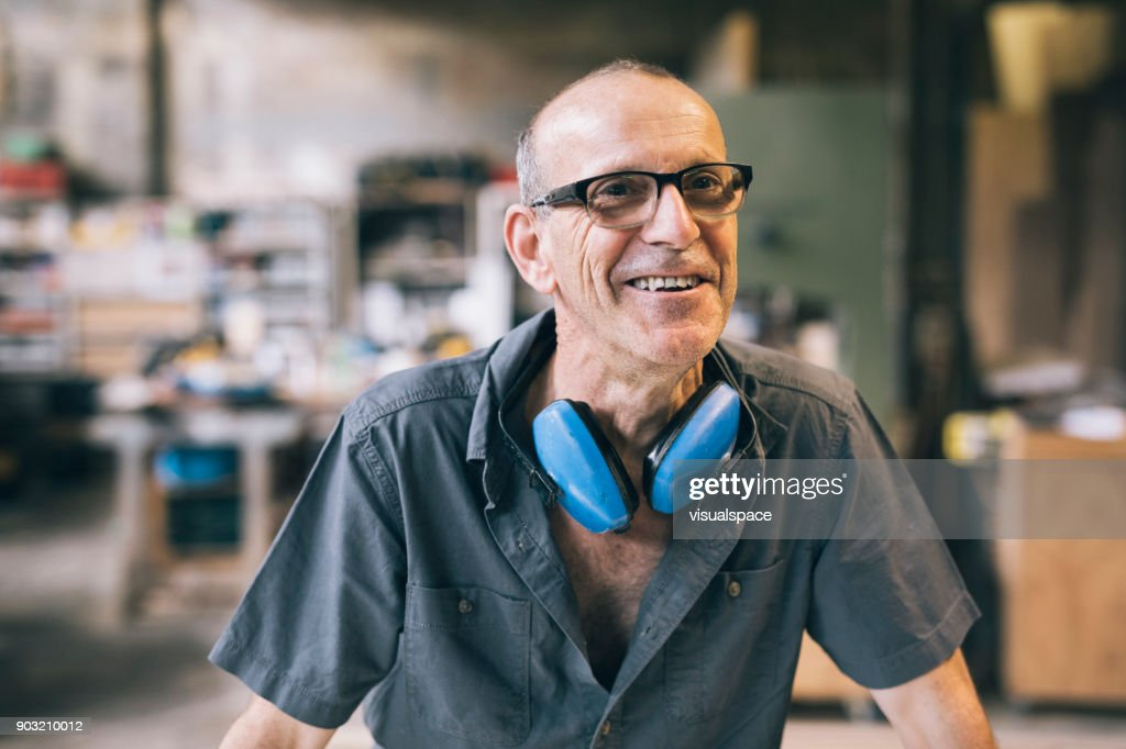 Smiling Worker : Stock Photo