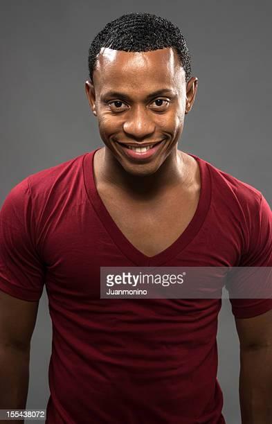Smiling young afrocaribbean man