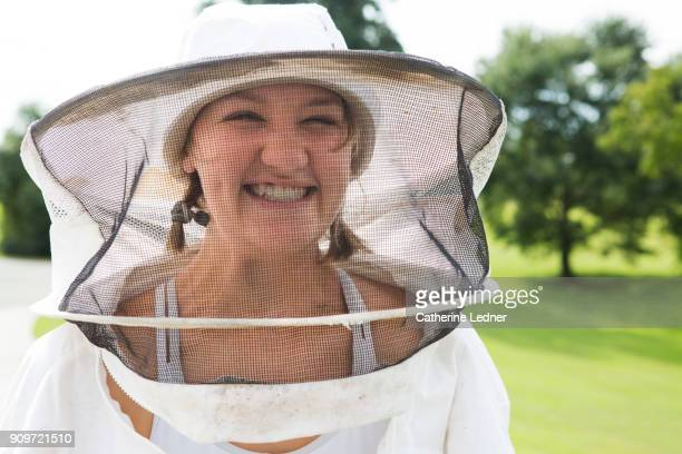 Smiling Young Bee Keeper at Honey Harvest