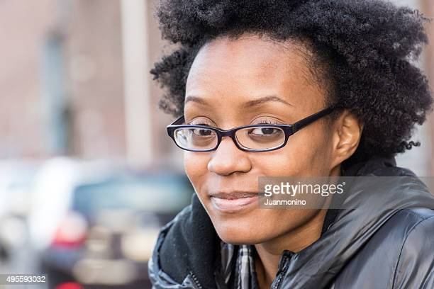 Smiling young black woman