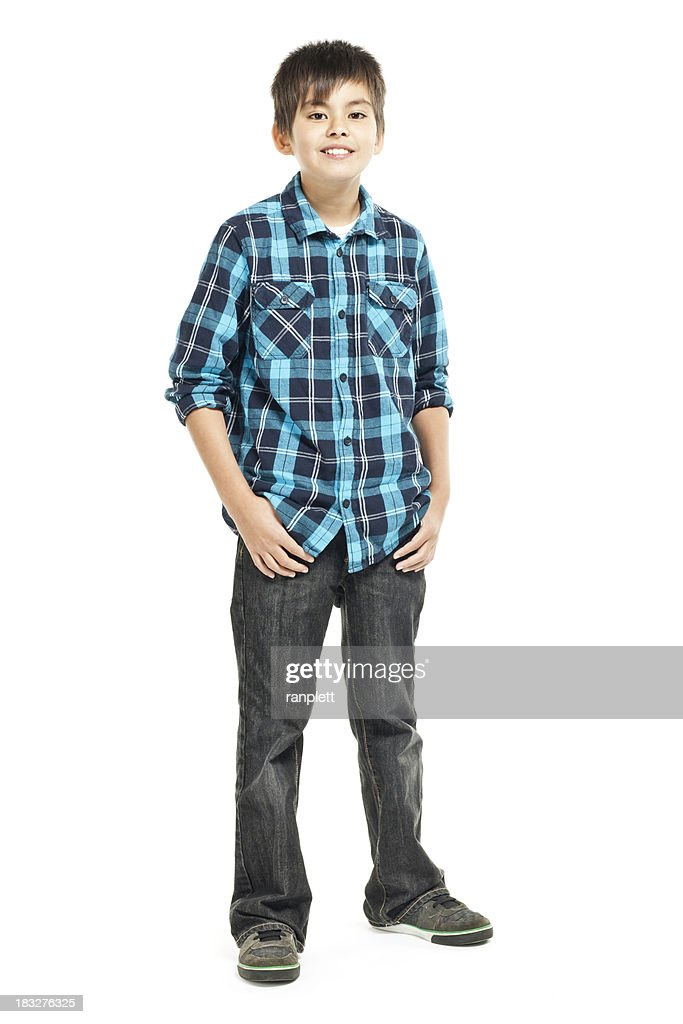 Smiling Young Boy - Isolated on White : Stock Photo