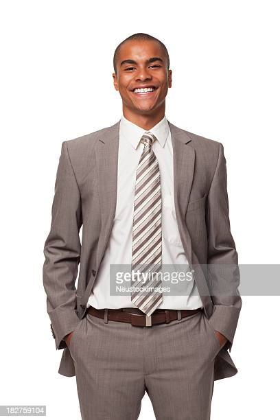 Smiling Young Businessman. Isolated