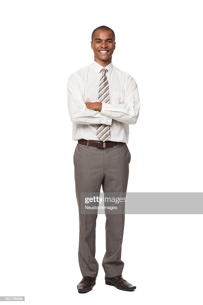 Smiling Young Businessman. Isolated. : Stock Photo