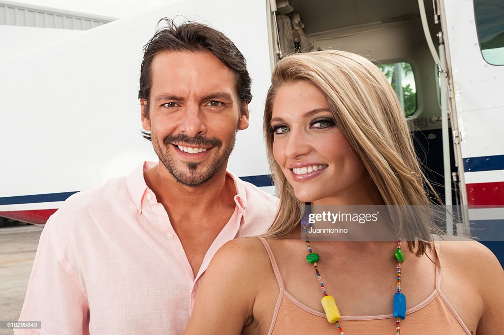 Smiling Young couple : Stock Photo
