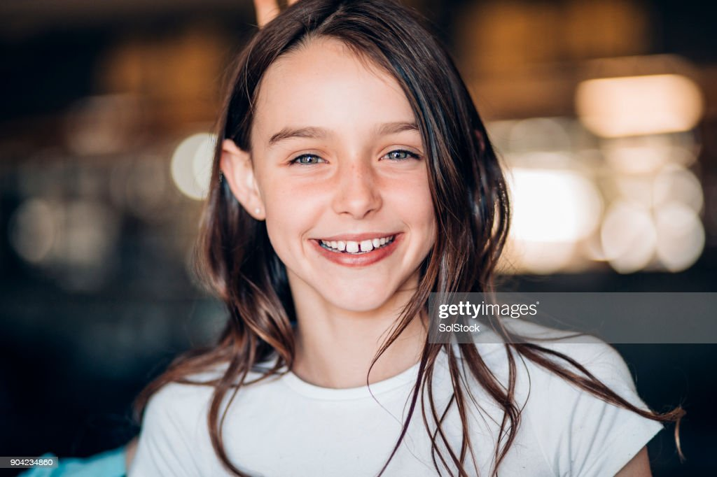 Smiling Young Girl : Stock Photo