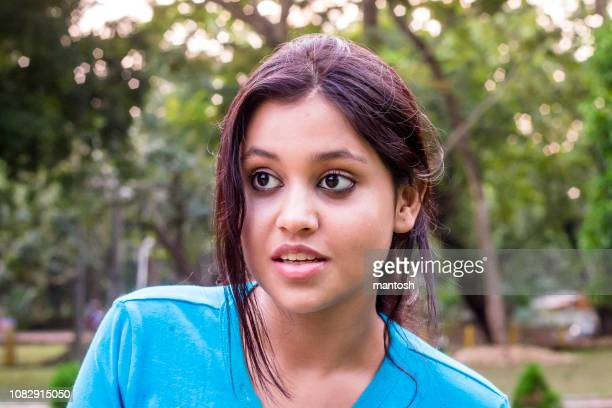 smiling young woman - bengali girl stock photos and pictures