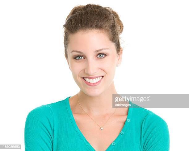 Retrato de mujer joven sonriente