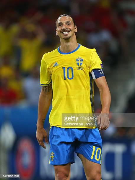 Smiling Zlatan Ibrahimovich of Sweden during the UEFA EURO 2016 Group E match between Sweden and Belgium at Allianz Riviera Stadium on June 22, 2016...