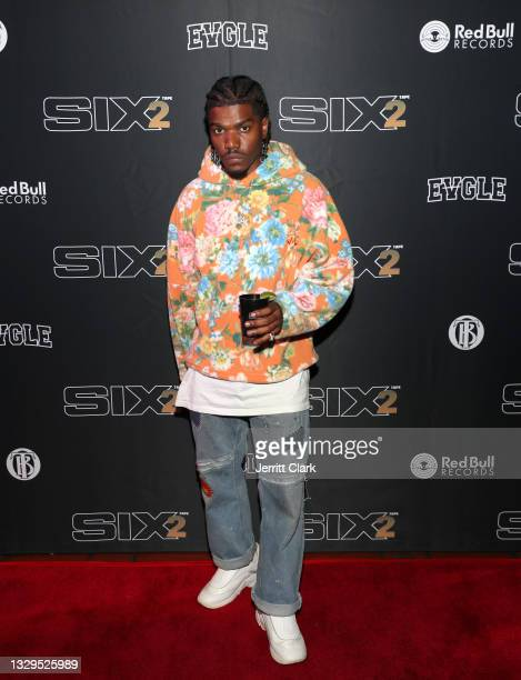 Smino attends the Blxst & Bino Rideaux 'Sixtape 2' release event at The Theatre at Ace Hotel on July 15, 2021 in Los Angeles, California.
