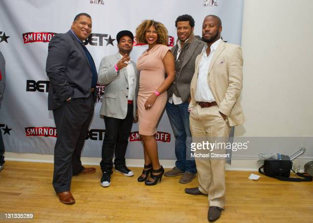 Smirnoff brand director David Tapscott GTM cofounder Karl Carter Diageo brand manager Erin Chin GTM cofounder Kembo Tom and Anthony Marshall attend...