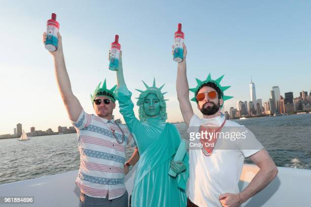 Smirnoff Red White Berry embodies the drink of the summer ahead of Memorial Day Weekend with a boat party on May 23 2018 in New York City
