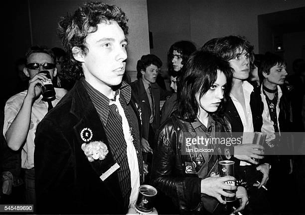 TV Smith and Gaye Advert of The Adverts in the audience at Dingwalls London 06 June 1977