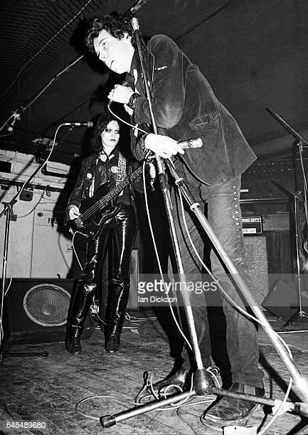 TV Smith and Gaye Advert of The Adverts performing on stage at Dingwalls London 06 June 1977