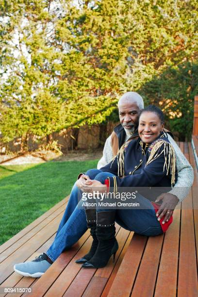 B Smith and husband Dan Gasby are photographed for People Magazine on December 20 2015 in Sag Harbor New York