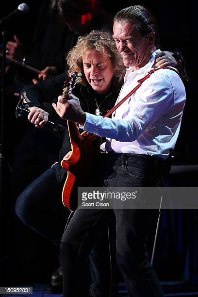 E Smith and Jack Blades perform on stage during the third day of the Republican National Convention at the Tampa Bay Times Forum on August 29 2012 in...