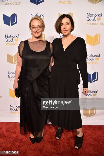 J Smith Cameron and Dagmara Dominczyk attend the 70th National Book Awards Ceremony Benefit Dinner at Cipriani Wall Street on November 20 2019 in New...