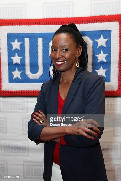 B Smith celebrates 70 years of the USO on B Smith's New York Restaurant's 25th Anniversary on November 14 2011 in New York City