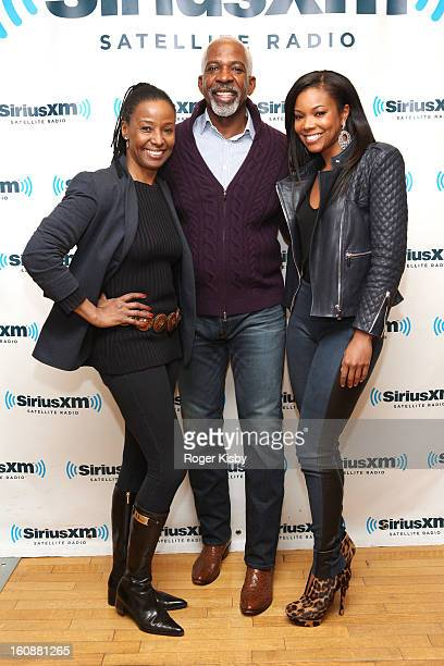 B Smith Dan Gasby and Gabrielle Union visit SiriusXM Studios on February 7 2013 in New York City