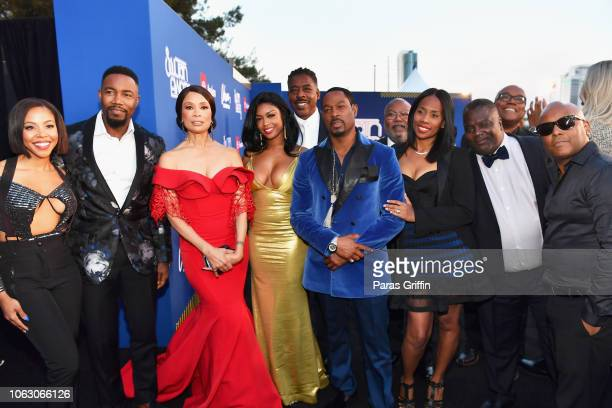 KJ Smith Michael Jai White Valarie Pettiford Javicia Leslie Ernie Hudson and Darrin Henson of The Family Business and guests attend the 2018 Soul...
