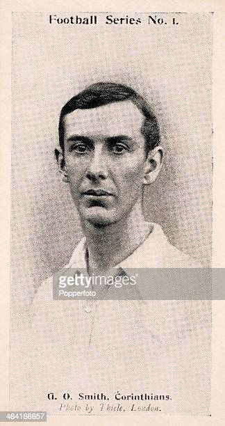 G O Smith of Corinthians AFC featured on a vintage cigarette card published in London circa 1902