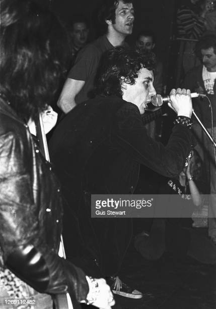 Smith of The Adverts performs on stage at the Music Machine Camden, London, England, on April 24, 1978.