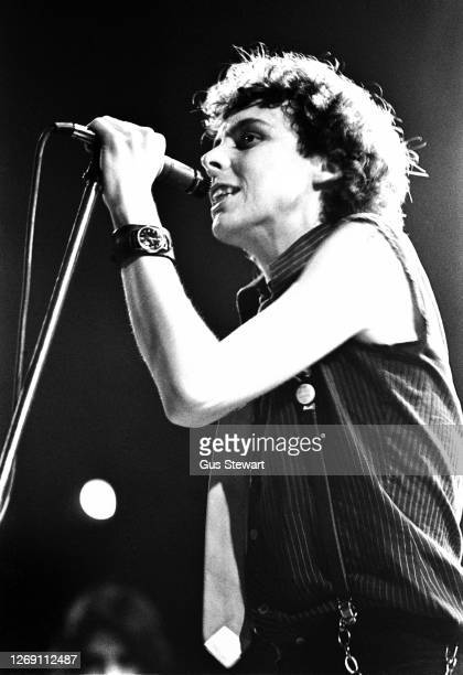 Smith of The Adverts performs on stage at the Music Machine, Camden, London, England, on April 24, 1978.