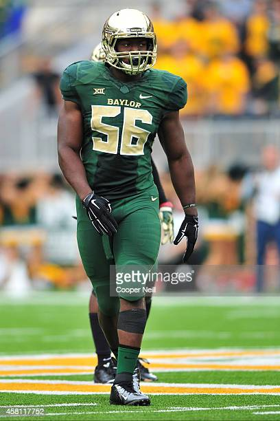 J Smith of the Baylor Bears looks on against the TCU Horned Frogs on October 11 2014 at McLane Stadium in Waco Texas