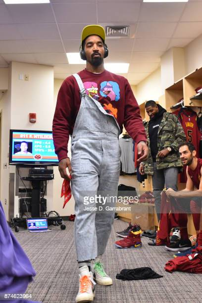 Smith of the Cleveland Cavaliers arrives at Madison Square Garden before the game against the New York Knicks on November 13 2017 in New YorkNew York...