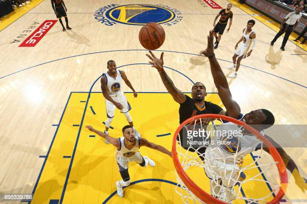 Smith of the Cleveland Cavaliers drives to the basket and shoots the ball against the Golden State Warriors in Game Five of the 2017 NBA Finals on...