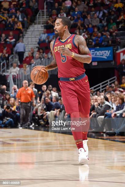 Smith of the Cleveland Cavaliers handles the ball against the Indiana Pacers on November 1 2017 at Quicken Loans Arena in Cleveland Ohio NOTE TO USER...