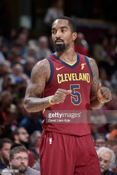 Smith of the Cleveland Cavaliers looks on during the game against the Indiana Pacers on November 1 2017 at Quicken Loans Arena in Cleveland Ohio NOTE...