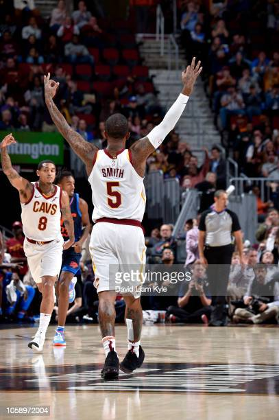 Smith of the Cleveland Cavaliers reacts against the Oklahoma City Thunder on November 7 2018 at Quicken Loans Arena in Cleveland Ohio NOTE TO USER...